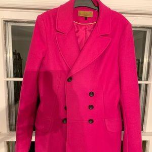 Pink Wool Coat size 8